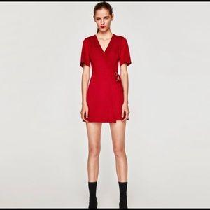 Zara XS red cocktail dress